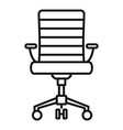 wheel chair desk icon outline style vector image