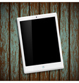 White tablet Stock vector image vector image