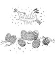 easter time poster with outdoor scene with easter vector image