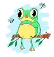 Pretty frog vector image