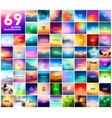 69 abstract colorful smooth blurred vector image