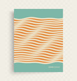 abstract flowing wave lines 3d wavy background vector image
