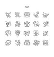 activist thin line icons vector image vector image