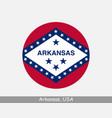 arkansas round flag vector image