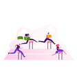 business people characters obstacle race managers vector image vector image