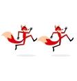 Cartoon Running Fox vector image vector image