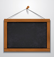 Chalkboard wood frame hanging on wall vector image