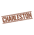 Charleston brown square stamp vector image vector image