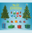christmas and new year elements christmas vector image