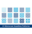 collection of moroccan patterns vector image