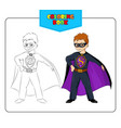 Coloring book Superhero vector image