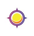 compass sun logo vector image vector image