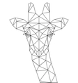 Decorative polygonal giraffe silhouette vector image vector image