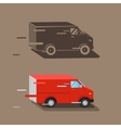 Delivery service van Fast delivery van Delivery vector image vector image