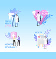 dental clinic health care insurance banner set vector image vector image