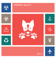 dog paw - logo symbol protect sign elements vector image