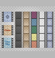 filmstrip on transparent vector image