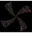 Fireworks Star Swirl vector image vector image