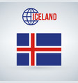 flag of the iceland isolated on modern background vector image vector image