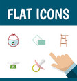 flat icon child set of children scales child vector image vector image