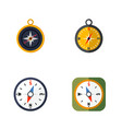 flat icon orientation set of compass navigation vector image
