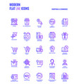 flat line gradient icons design-shopping and e vector image vector image