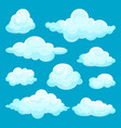 flat set of fluffy clouds sky and weather vector image