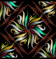 floral tapestry floral seamless pattern vector image vector image