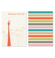 Funny and positive creative greeting card vector image vector image