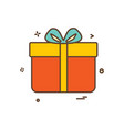 gift box birthday surprise icon design vector image
