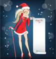 girl santa claus happy christmas and new year vector image vector image