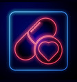 glowing neon pills for potency aphrodisiac icon