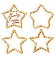 gold star set vintage shine lamp star vector image vector image
