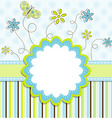greeting card design vector image vector image