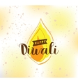 Happy Diwali typography vector image