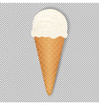 ice cream with transparent background vector image vector image