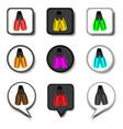 icon for set symbols rubber flippers vector image vector image