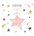 Inspirational and motivational handwritten vector image vector image