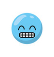 isolated blue emoticon design vector image
