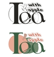 labels on the theme of tea vector image vector image
