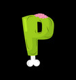 letter p zombie font monster alphabet bones and vector image vector image