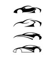 logo design template for car set vector image vector image