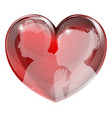 loving man and woman heart vector image