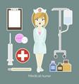 medical doctor nurse girl vector image