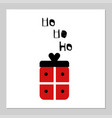 merry christmas present gift red box isolated on vector image