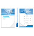 modern business brochure design template cover vector image vector image