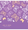 Night butterflies horizontal seamless pattern vector image vector image