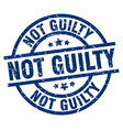 not guilty blue round grunge stamp vector image vector image