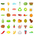 pepper icons set isometric style vector image vector image