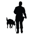 Police Dog vector image vector image